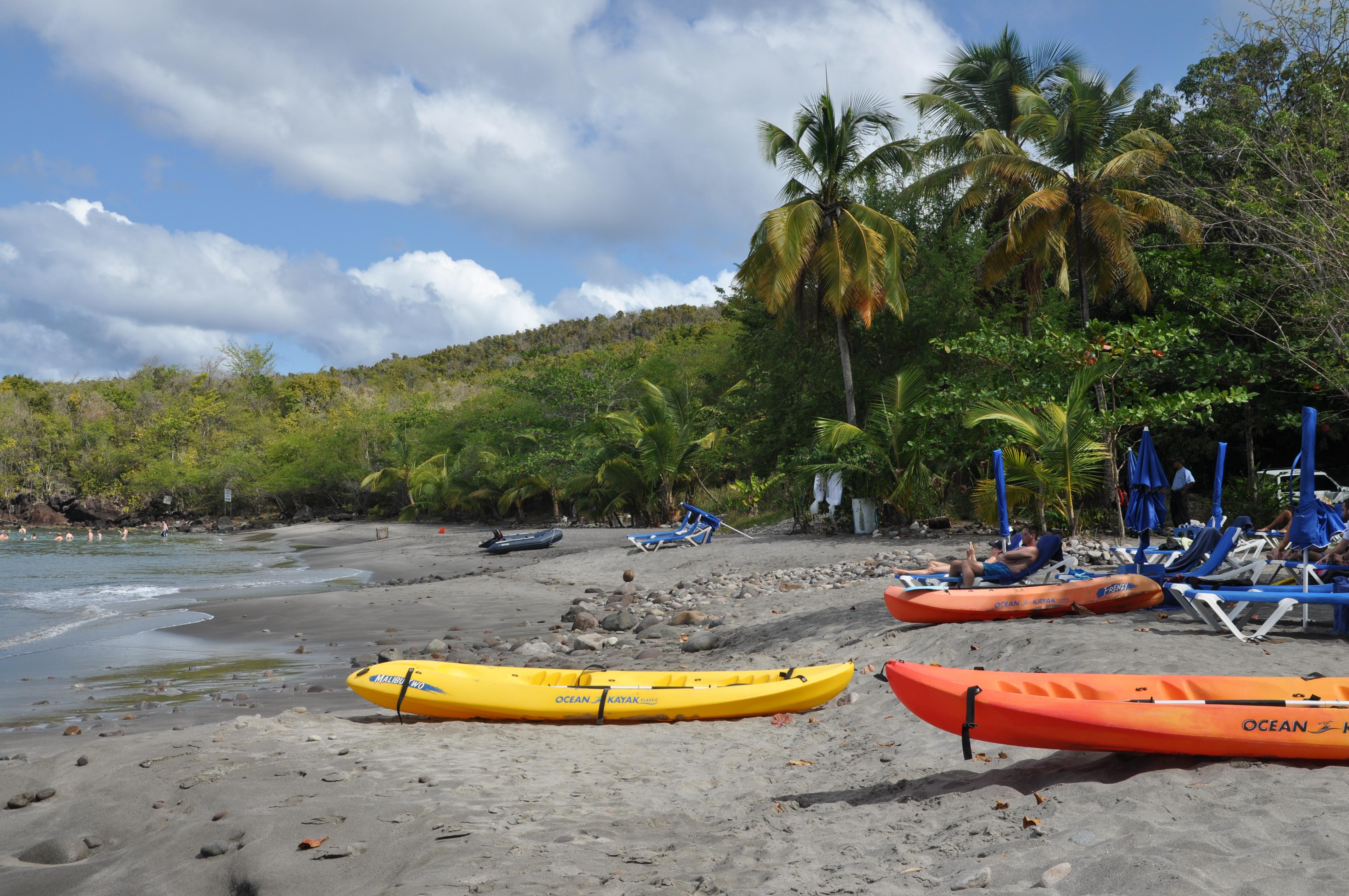 niedzielne plażowanie w Anse Cochon (St.Lucia)