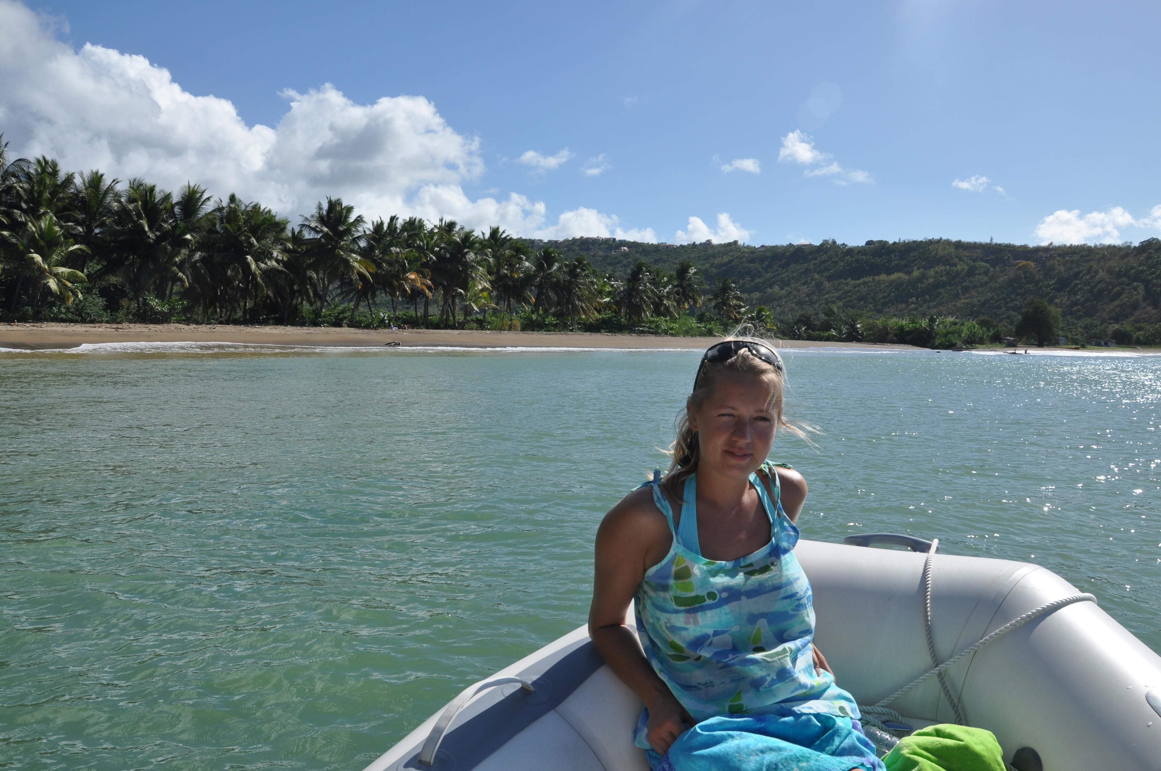 pontonem w okolicach Marigot Bay (14.01)